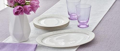 Набор десертных тарелок и овальное блюдо