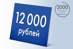 12 000 рублей